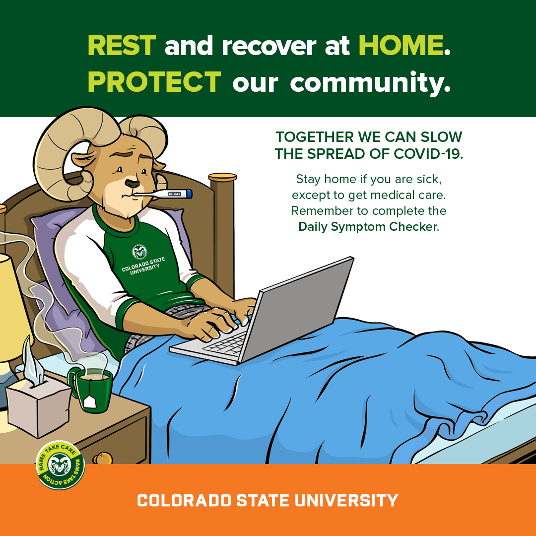 Stay home when you're sick - Cam the Ram