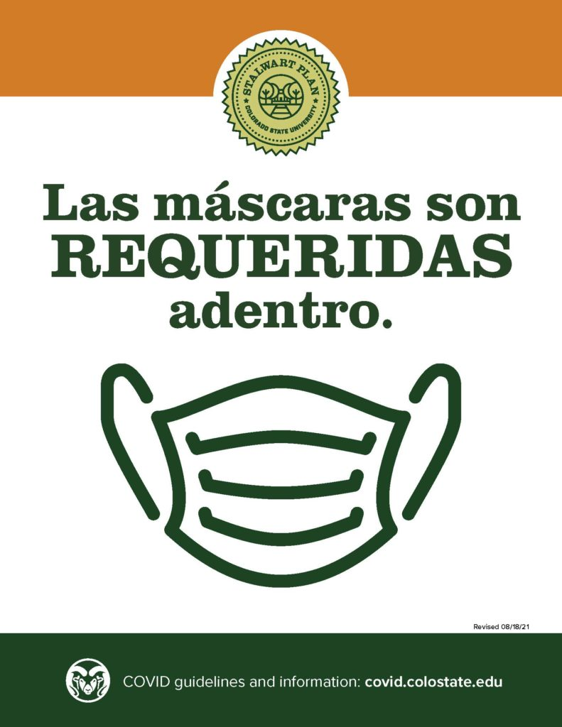 downloadable masks required in Spanish