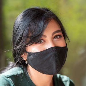 Person wearing facial mask